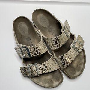 Birkenstock Arizona Sandal Metallic Stone 40